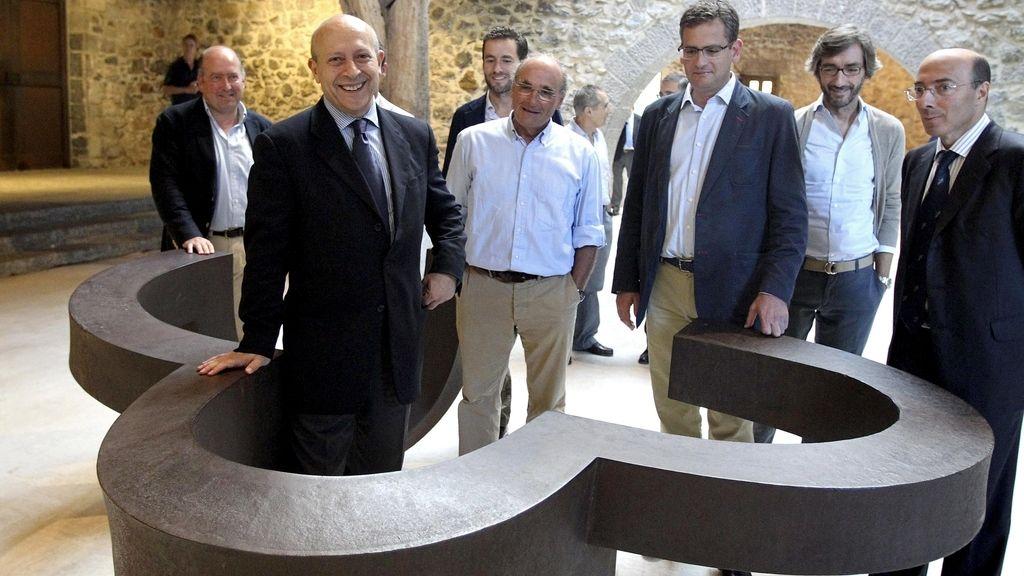 José Ignacio Wert y Antonio Basagoiti en Hernani. Foto: EFE