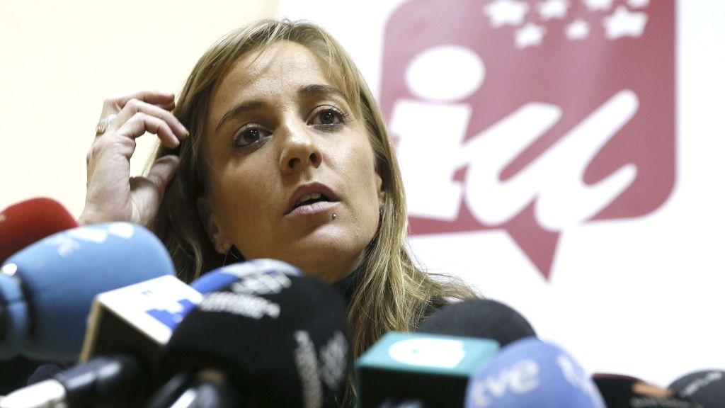 Tania Sánchez, IU, en rueda de prensa