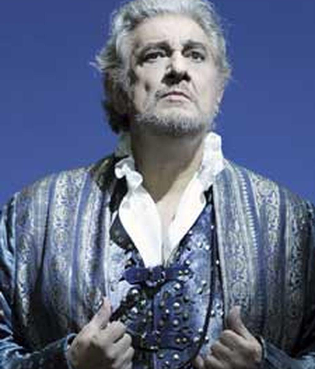 Plácido Domingo en su papel de Simón Boccanega, su primer papel como barítono. Foto: EFE