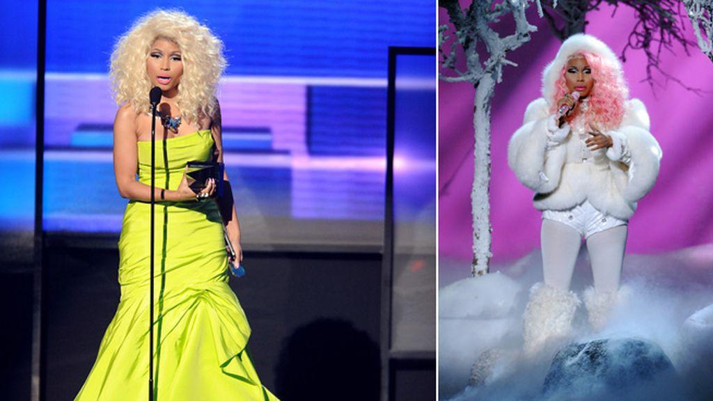 Nicki Minaj se tranformo en la mujer del Yeti para su actuación