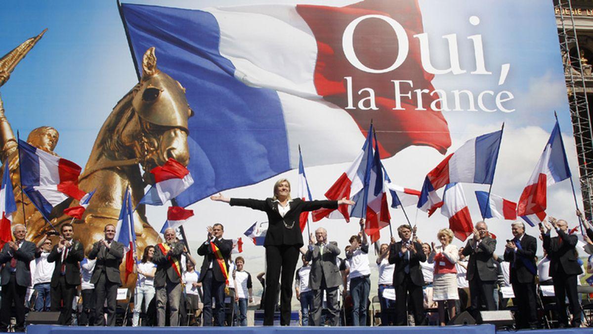 Le Pen, fanfarria nacionalista en la movilización del 1 de mayo