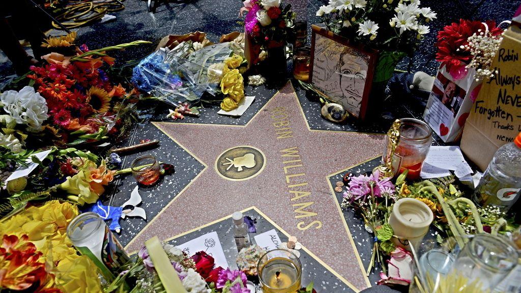 Flores en recuerdo de Robin Williams