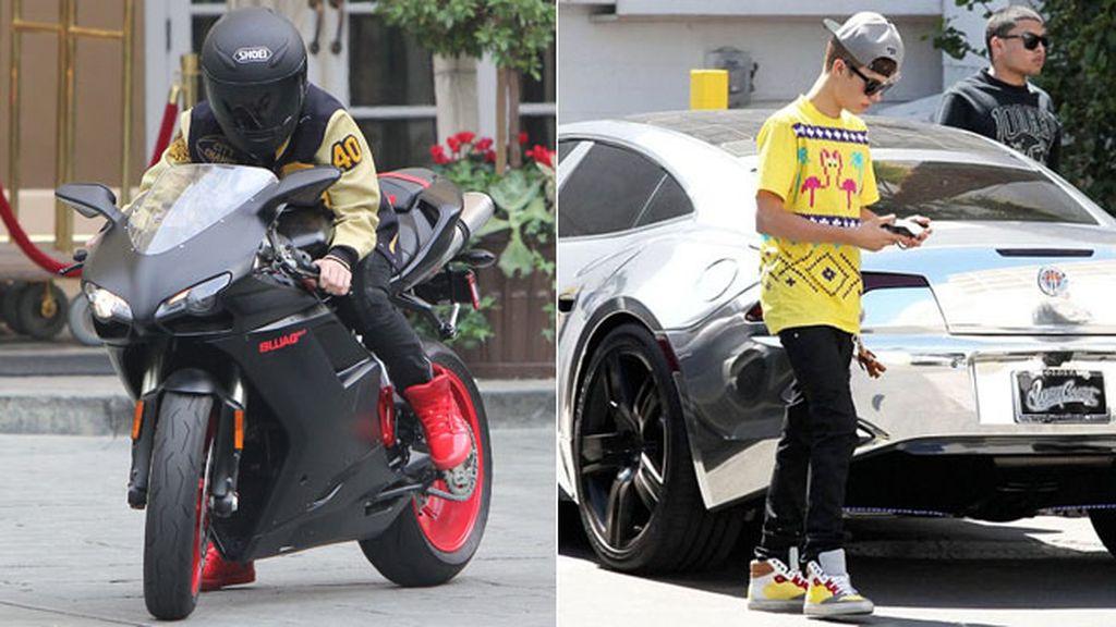 Bieber, como una moto