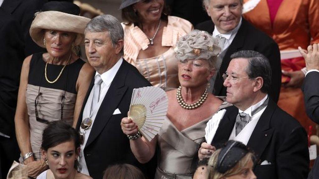 Los invitados, durante la ceremonia en el palacio Grimaldi