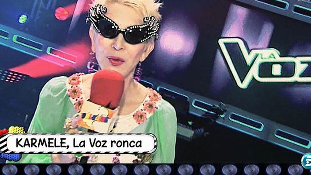 Karmele no pasa la prueba de la 'audición a ciegas' de 'La Voz'