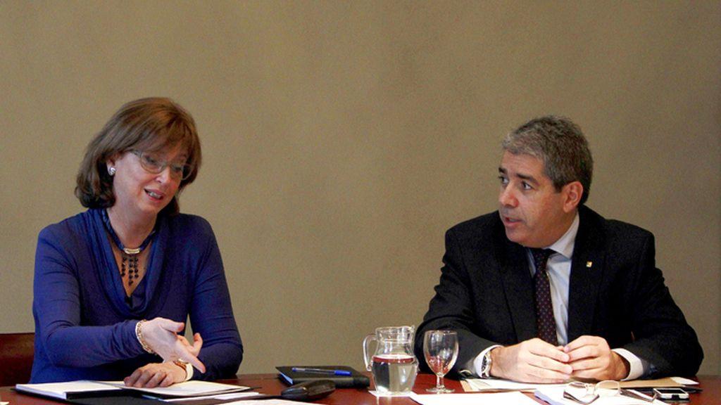 Rigau y Homs, durante la reunión semanal del gobierno catalán