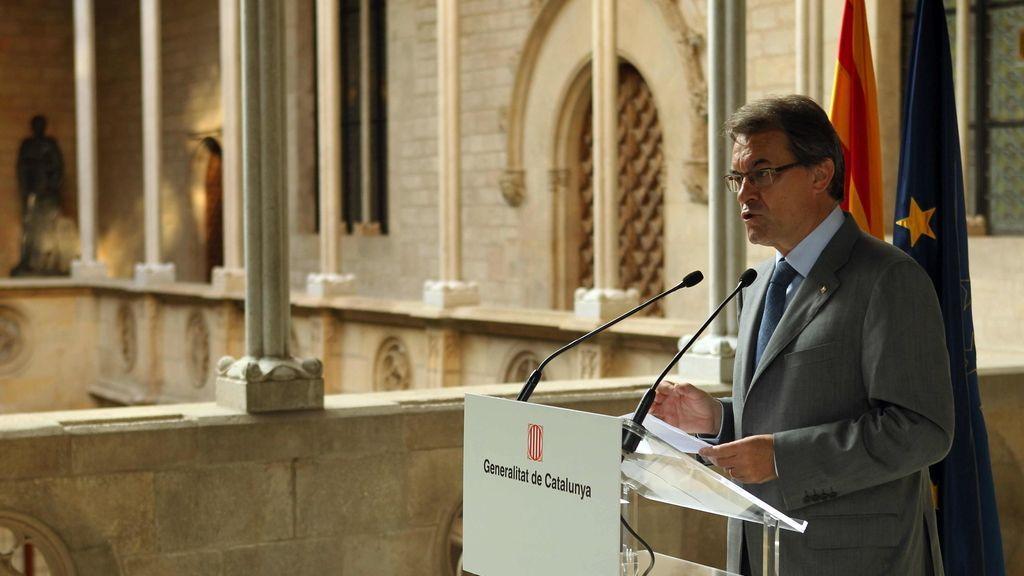 Artur Mas valora el éxito de la manifestación de la Diada