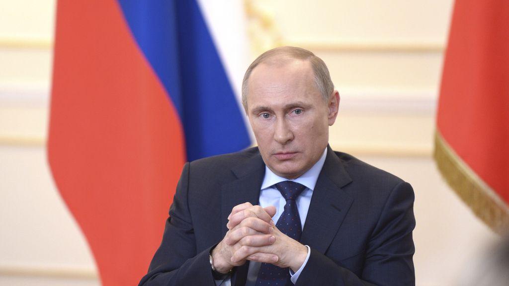 Vladimir Putin en rueda de prensa