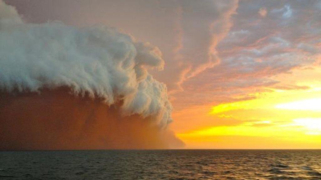 Nube de polvo en Australia