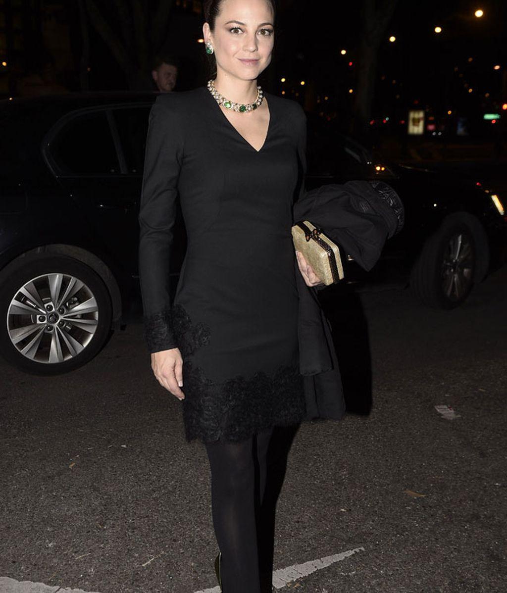 Leonor Watling también eligió el color negro para la ocasión