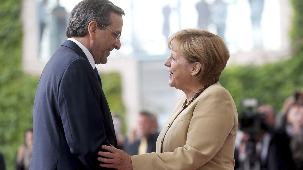 Angela Merkel y Andonis Samaras
