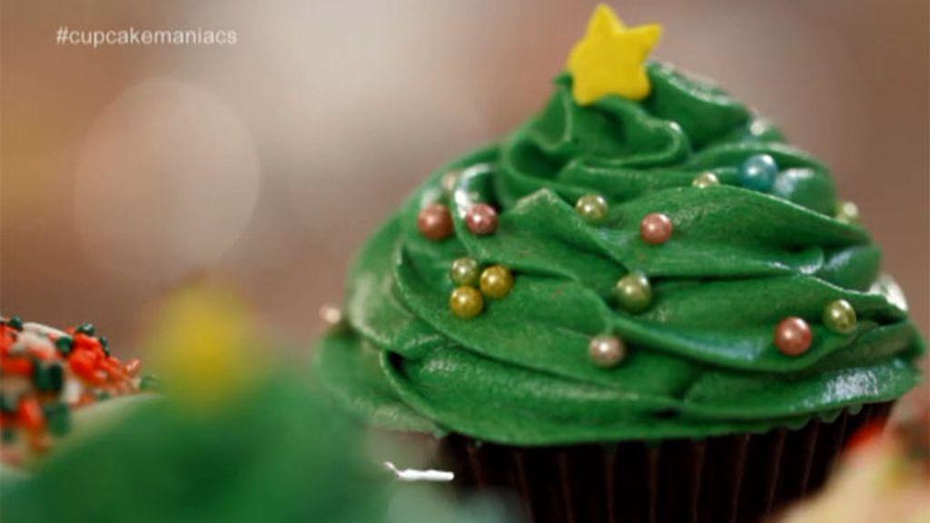 Cupcakes zanahoria navideños