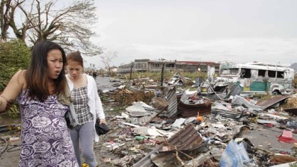 Tifón en el centro de Filipinas