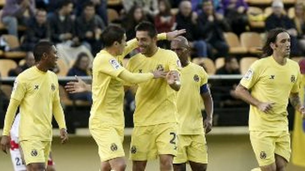 El Villarreal celebra un gol. EFE