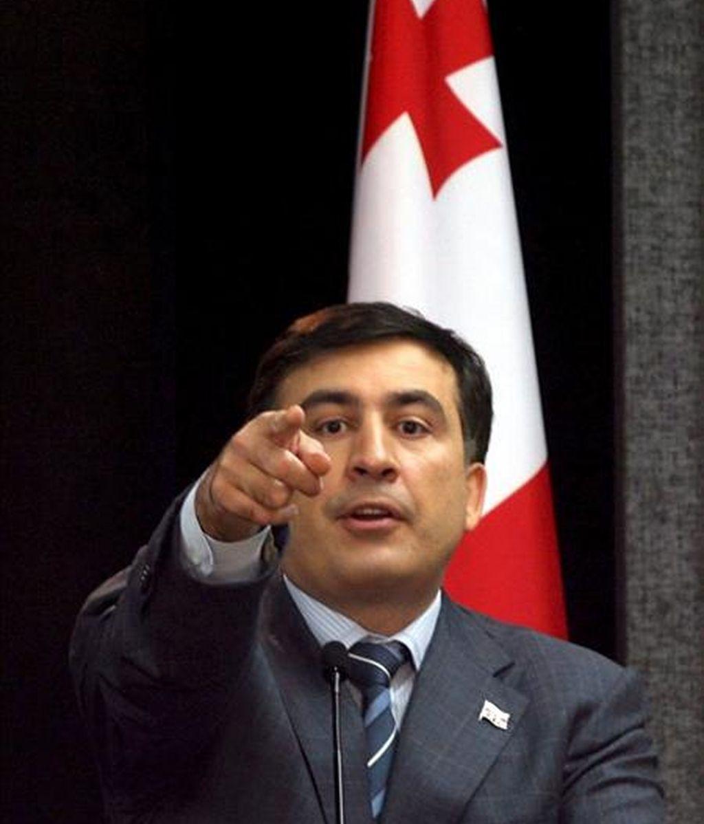 La UE pide diálogo político entre el presidente de Georgia y la oposición. En la imagen, el presidente de Georgia, Mijaíl Saakashvili. EFE/Archivo