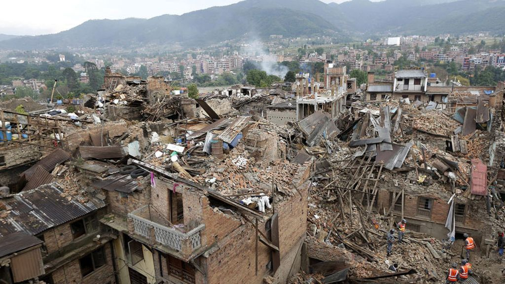 Daños tras el terremoto en Nepal