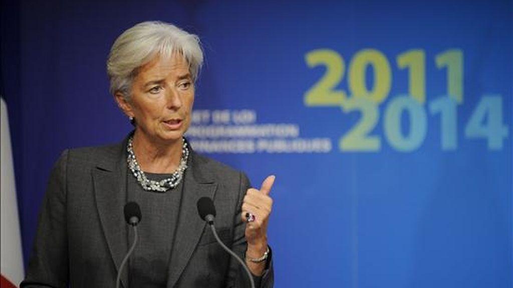 La ministra francesa de Economía, Christine Lagarde. EFE/Archivo