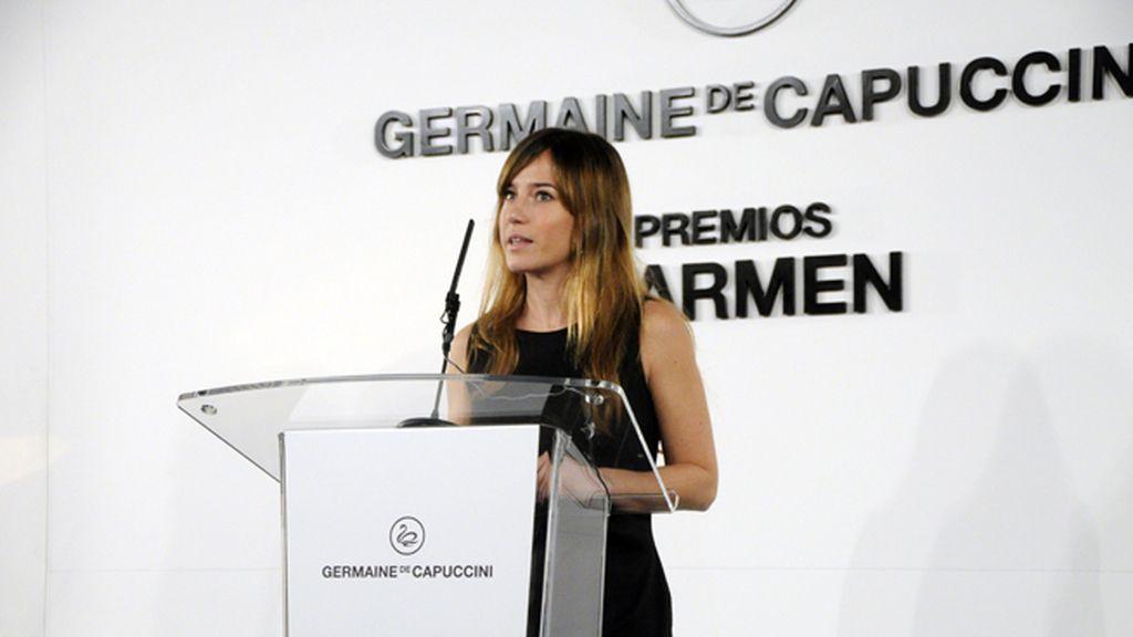Marta Etura, vicepresidenta de la Academia de cine, nos dio la bienvenida a los Premios Carmen