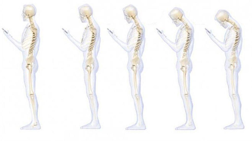 ¿Cómo te afecta a la columna mirar el móvil?