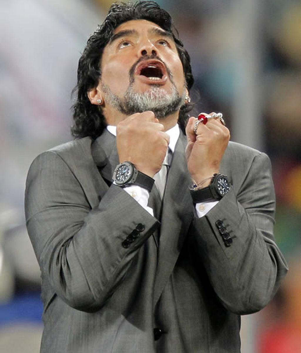 Las supersticiones de Maradona