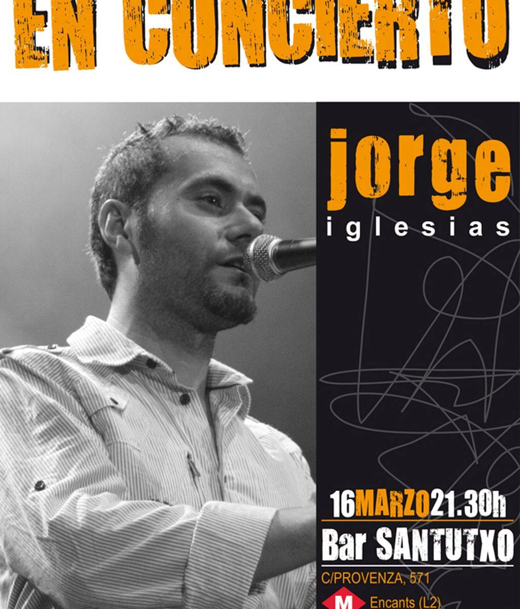 Concierto de Jorge Iglesias en Barcelona