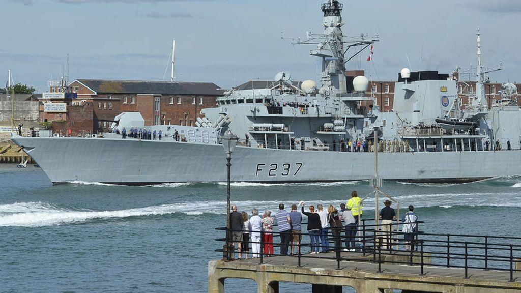 La armada británica rumbo al peñón de Gibraltar