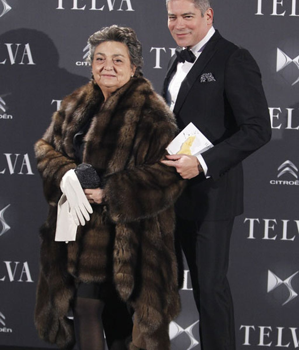La diseñadora Elena Benarroch junto a Boris Izaguirre