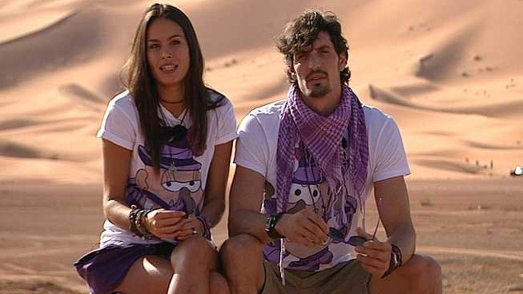 Mireia Canalda y su novio, Felipe López