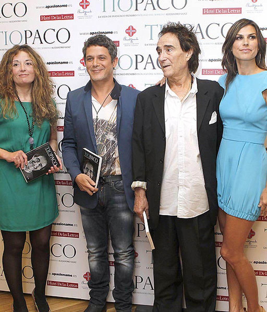 Raquel Pereia acompañó a su marido, el cantante Alejandro Sanz