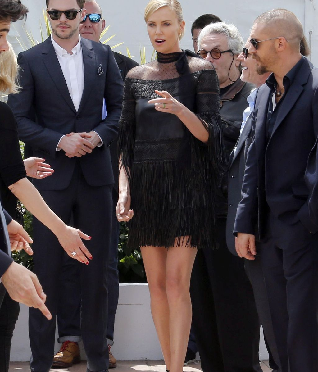 Charlize Theron presenta Mad Max: Fury Road en Cannes
