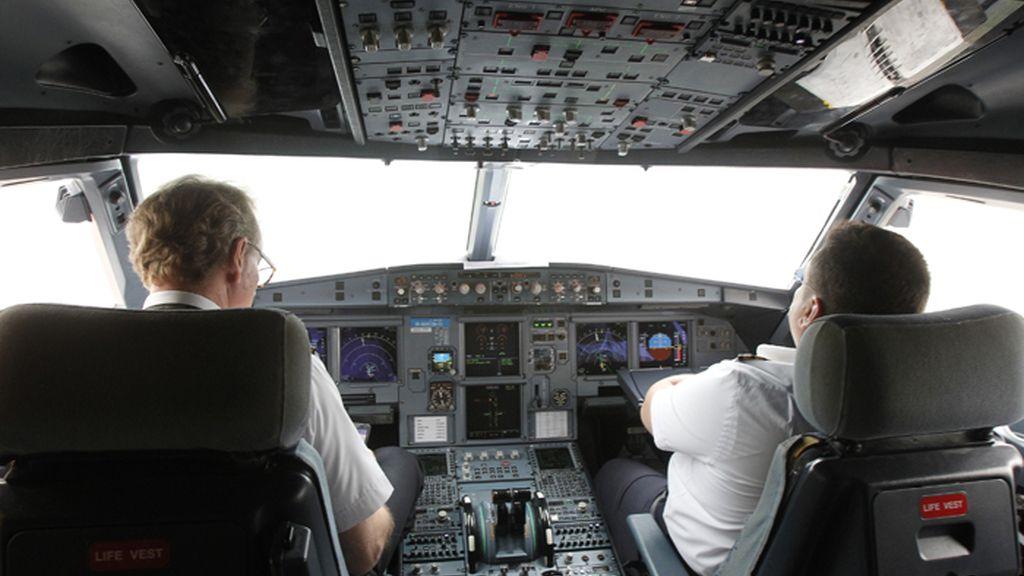 Cabina de un Airbus A320