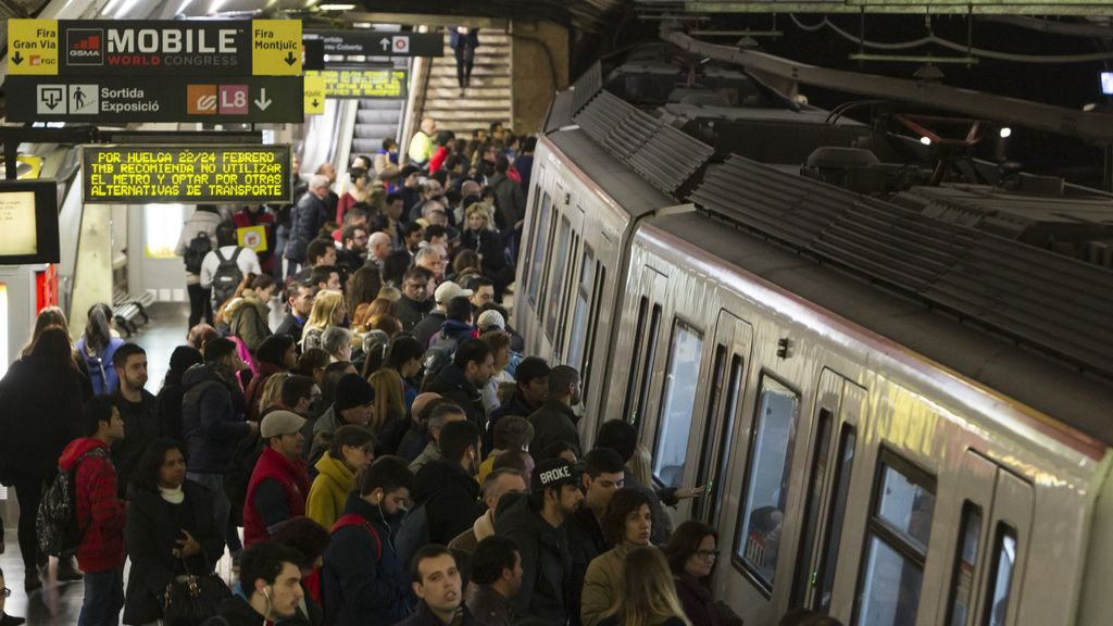 Arranca el Mobile World Congress en Barcelona con paros en el metro