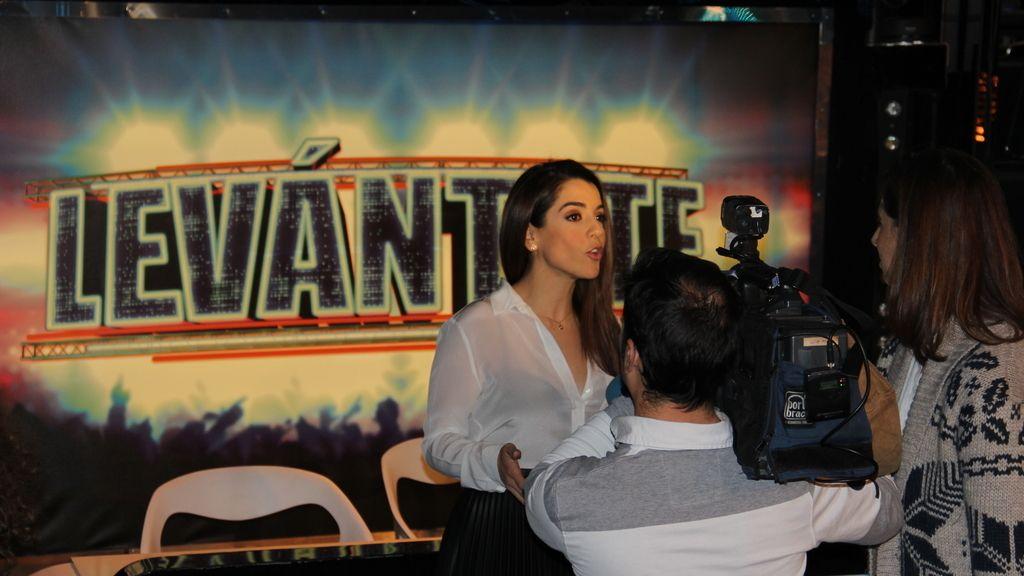 Las fotos de la rueda de prensa de 'Levántate'