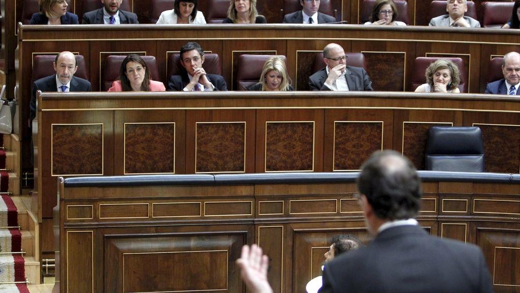 Mariano Rajoy durante la sesión de control al Gobierno