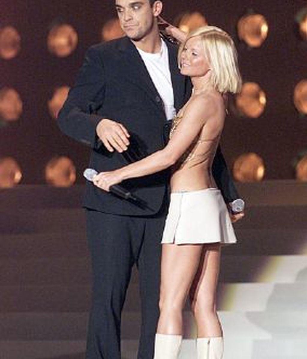 A Geri Halliwell y Robbie Williams les une una gran amistad. Foto archivo