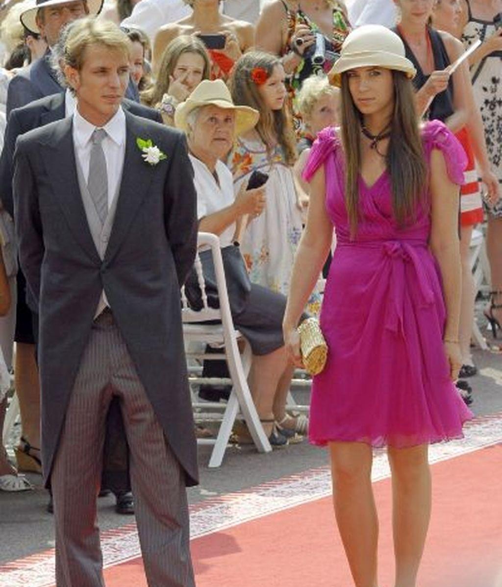 Andrea Casiraghi y su novia