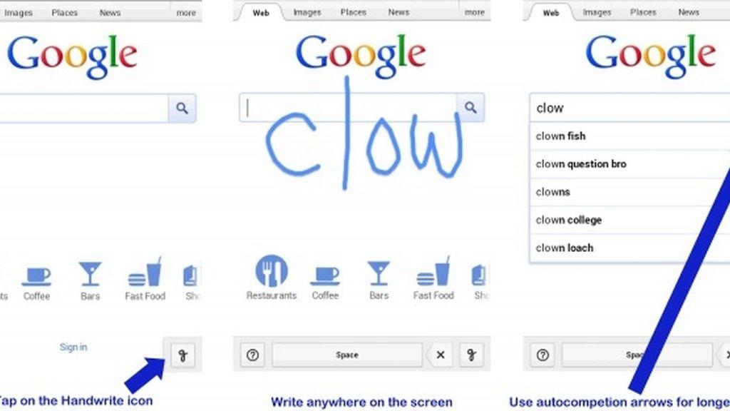El handwrite permite escribir un texto directamente en pantalla con el dedo en Android y iPhone