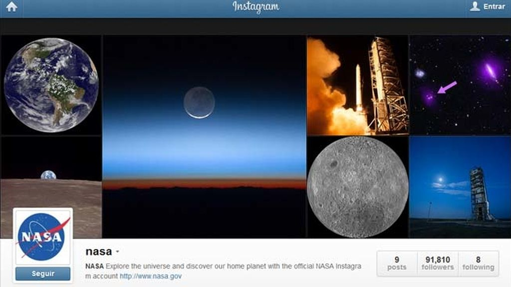 La NASA abre perfil en Instagram para compartir imágenes del Universo