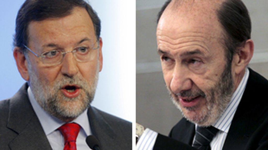 Rajoy y Rubalcaba solo mantendrán un debate televisado. FOTO: EFE/Archivo