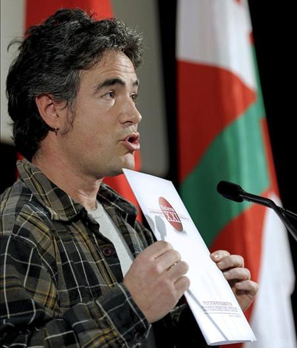 El portavoz de la izquierda abertzale Santi Quiroga. EFE