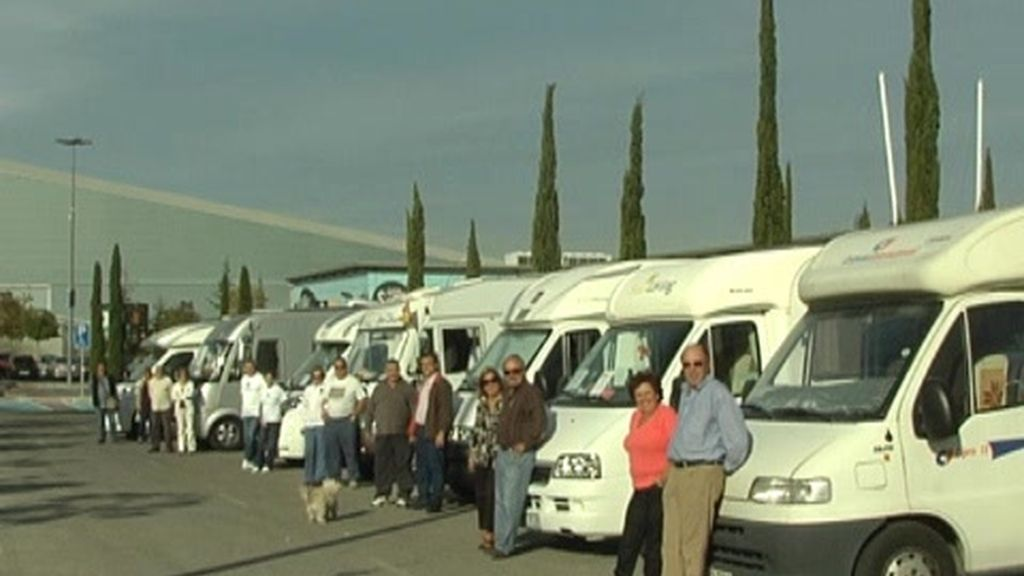Manifestación de autocaravanas