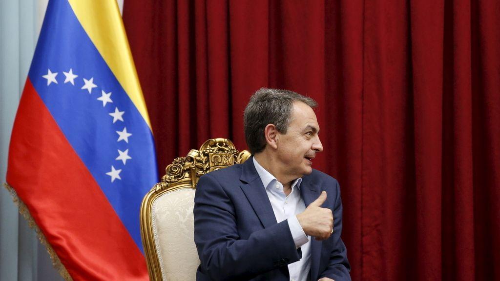 El expresidente del Gobierno, José Luis Rodríguez Zapatero, en Venezuela