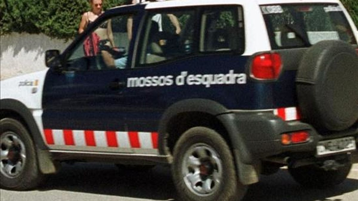 Un coche de los Mossos d´Esquadra durante un suceso. EFE/Archivo
