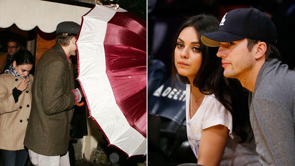 Mila Kunis y Ashton Kutcher practican el despiste