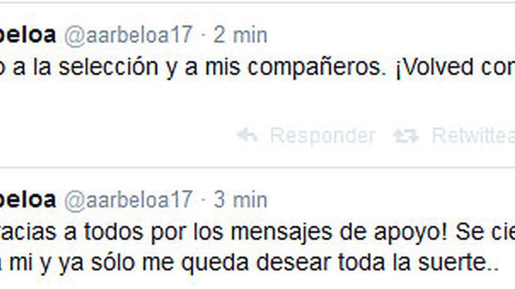 Twitter Arbeloa