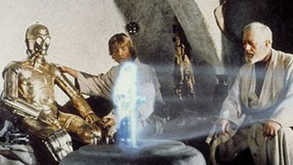 Esta técnica utiliza la luz blanca normal en vez del láser para producir hologramas. Foto: LucasFilm