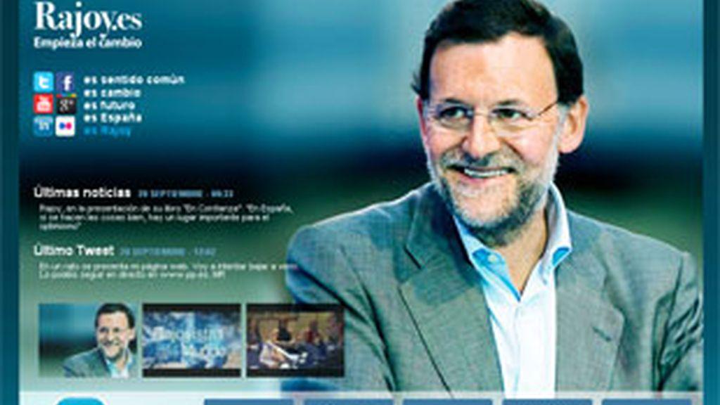 El líder del PP prosigue su ofensiva preelectoral en la Red. Foto: www.rajoy.es