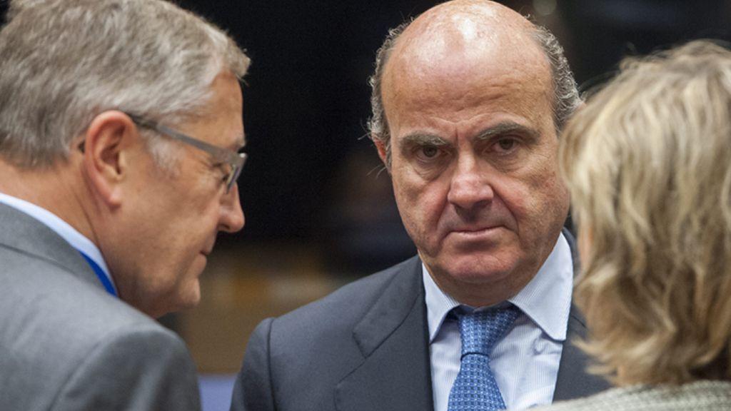Luis de Guindos en la reunión de los ministros de Economía y Finanzas del Eurogrupo