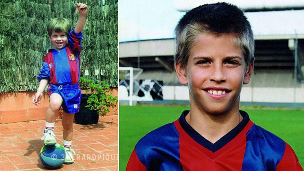 Gerard Piqué y sus primeros toques