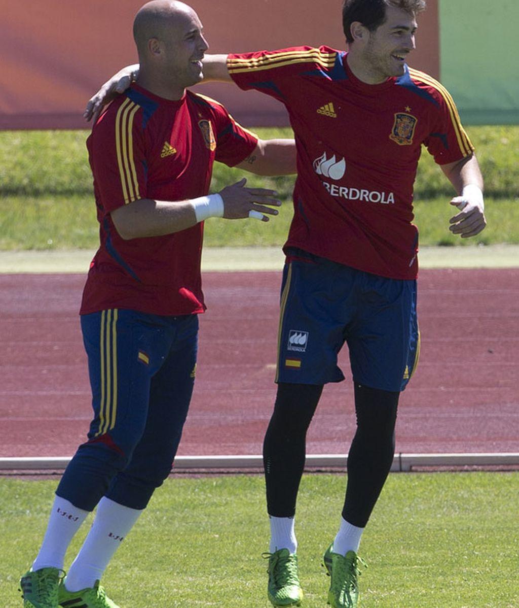 Pepe Reina e Iker Casillas
